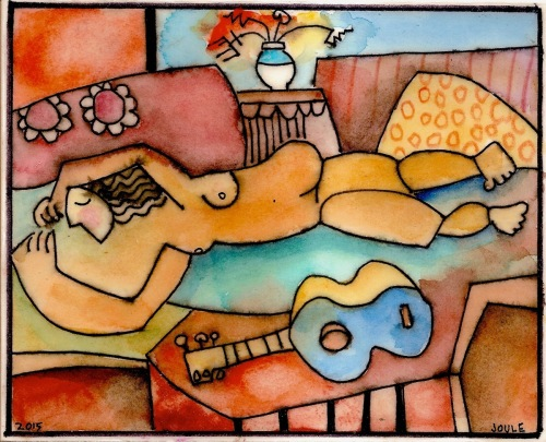 Nude with Guitar