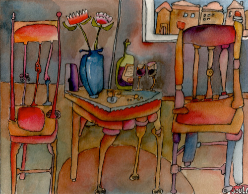 Tuesday's Table 8x10 by Joule Terry McIlrath
