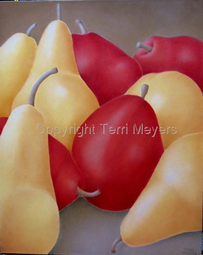 Red and Yellow Pears