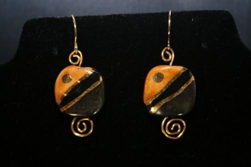 African Kazuri Bead Earrings