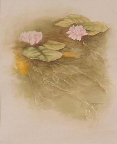 Waterlillies and goldfish
