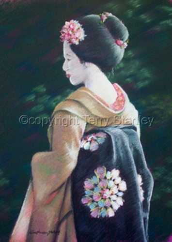 Geisha in the Garden (large view)