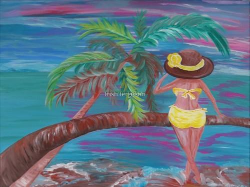 Beachy - acrylic on canvas