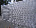 Hudson's Bay - sculpted plaster wall w silver metallic finish (thumbnail)