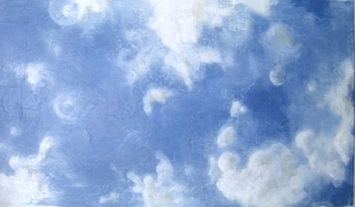 sky mural in a foyer (thumbnail)