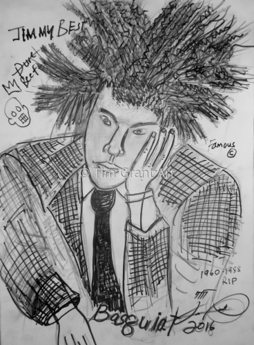 Drawing Of Jean Basquiat