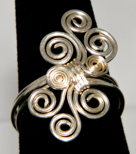 Wire Wrapped Silver Filled Ring