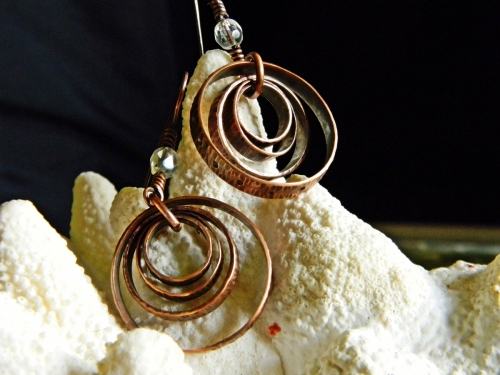 Concentric Reclaimed Copper Hoop Earrings