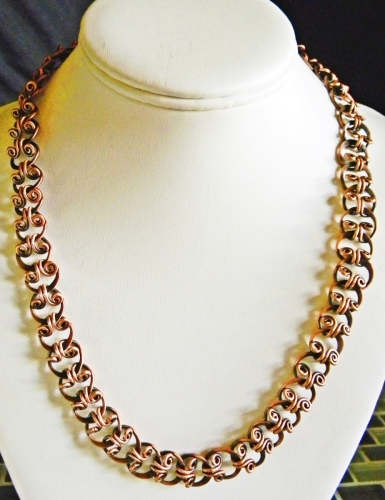 Reclaimed Copper Scrollwork Necklace