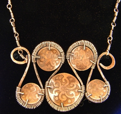 Aztec Inspired Etched 'Snake' Necklace