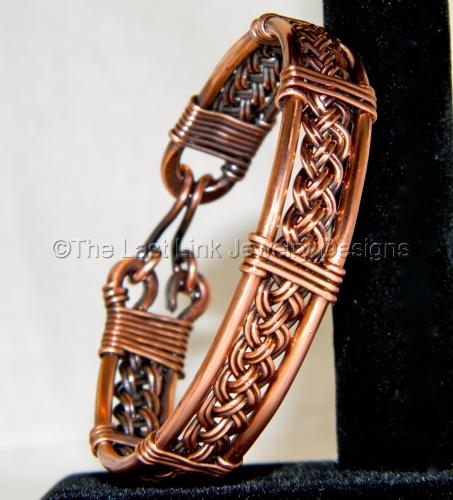 Upcycled Braided Copper Bracelet