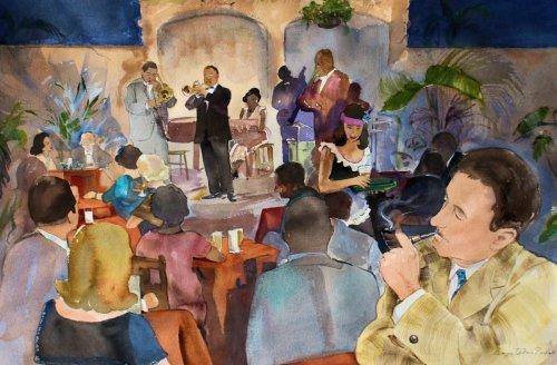 William Faulkner Enjoys New Orleans Jazz