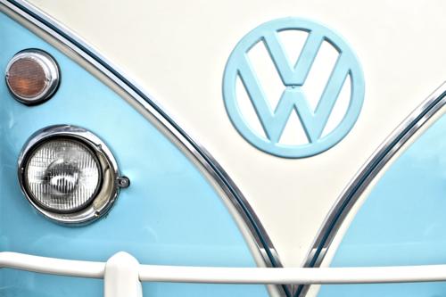 VW Van in Blue