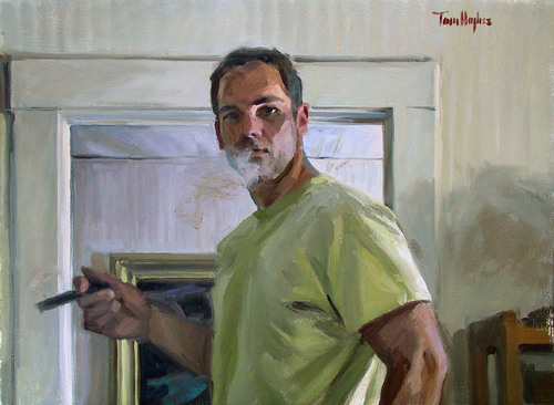 Self-portrait by Tom Hughes Paintings