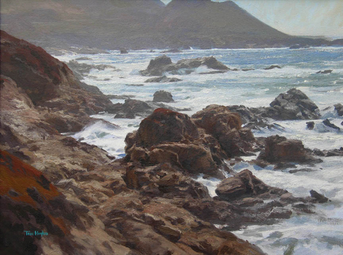 Afternoon tide, Carmel (large view)