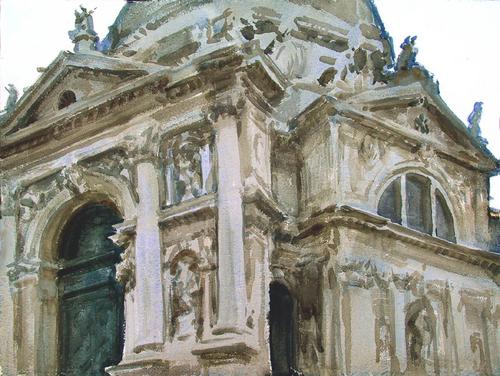 Santa Maria della Salute, Venice by Tom Hughes Paintings