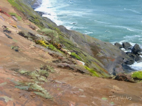 Headlands view by Tom Hughes Paintings