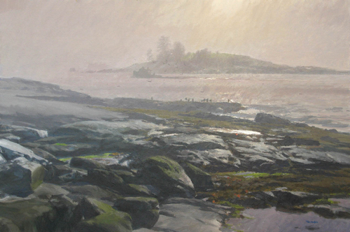 June morning by Tom Hughes Paintings