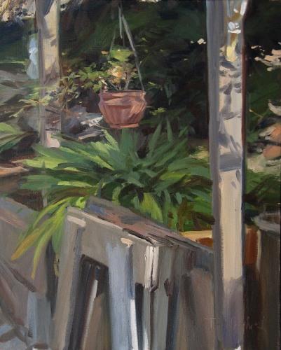Agapanthus by Tom Hughes Paintings
