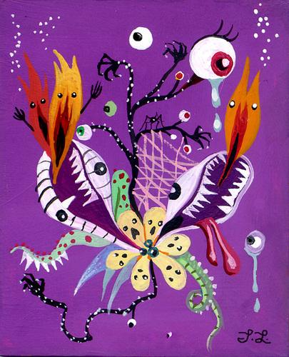 Painting-Hybrid Monster Flower