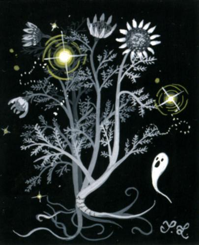 Painting-Fantasy-Death Flower Daisy