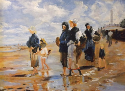 after John Singer Sargent, The Oyster Gatherers of Cancale