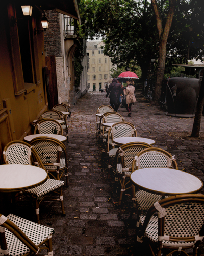 Paris Red Umbrella Girls by Timothy Needham