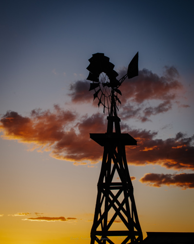 Windmill Sunset New Mexico