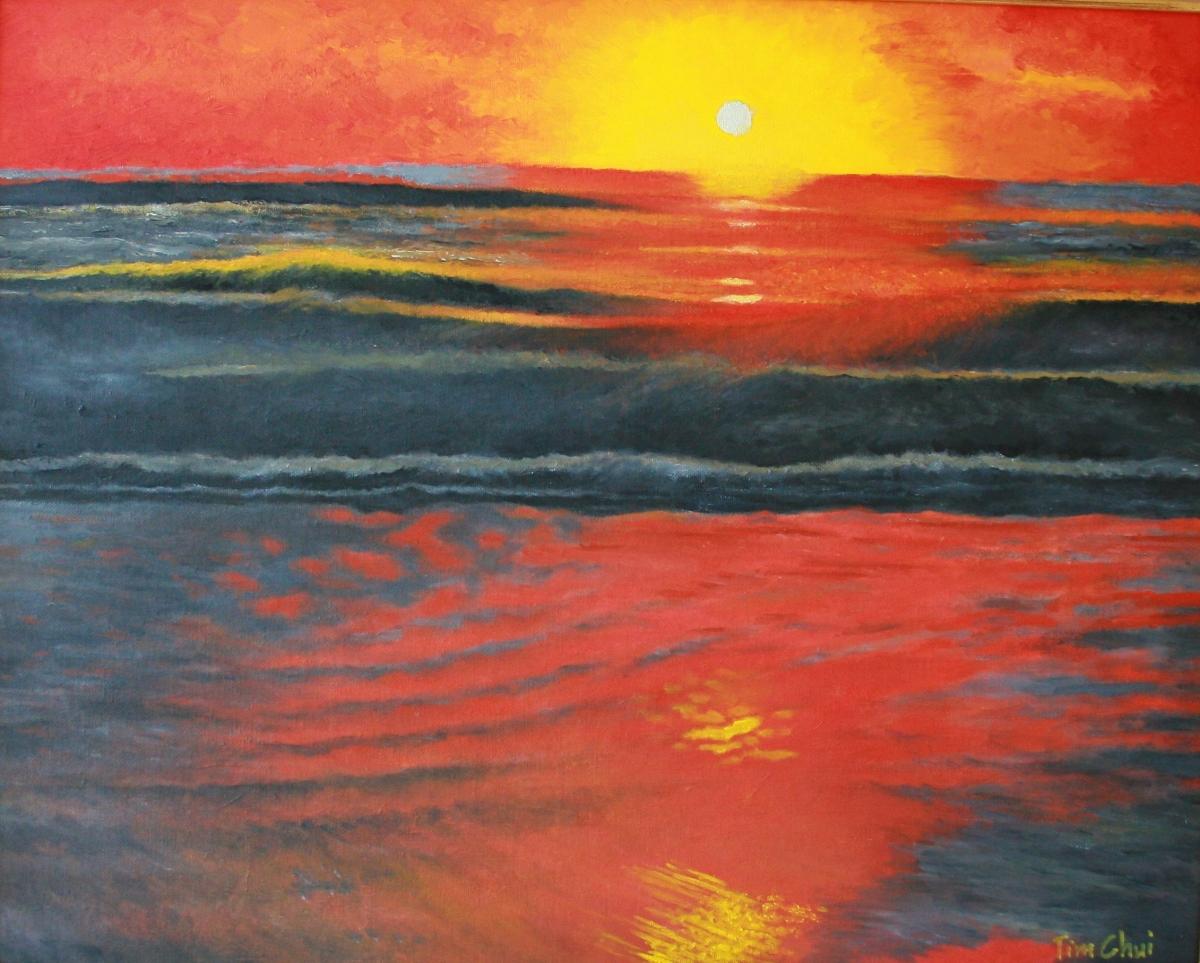 Sunrise at the Seashore (large view)