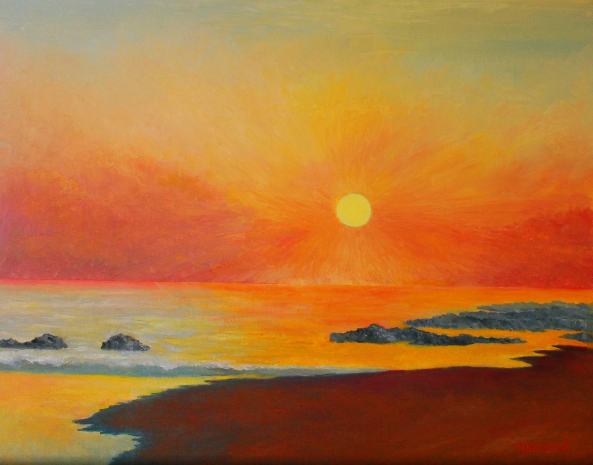 Long Beach Sunset New York (large view)