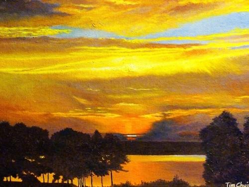 Sunset over the Adirondacks    (large view)