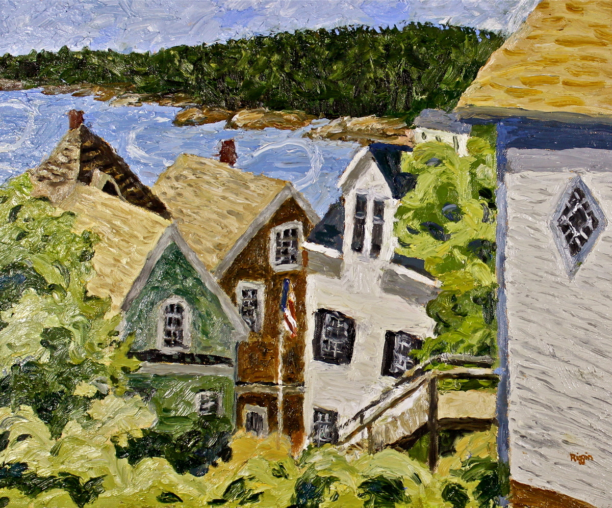 Rooftops, Stonington Maine (large view)