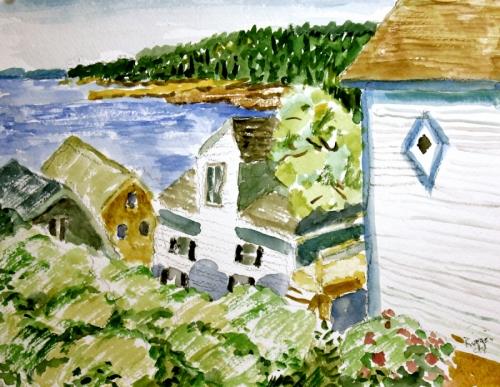 Rooftops, Stonington, Maine