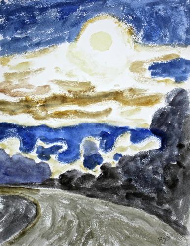 Summer Moon, Delmarva by Garrin Riggin