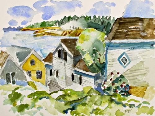 Rooftops, Stonington, Maine (version 2)