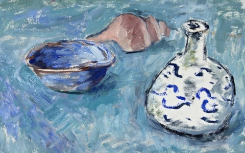 Still Life with Shell and Bowl