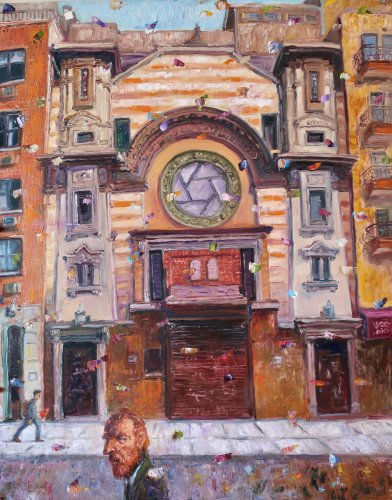 Rivington Street Center NYC by Ted Keller New York City Oil Paintings