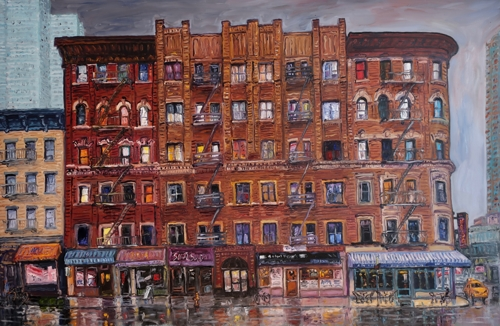 NYC Rain by Ted Keller New York City Oil Paintings