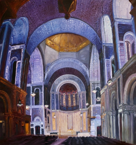 St Barts NYC by Ted Keller New York City Oil Paintings