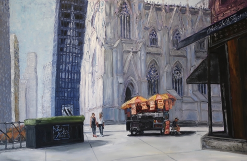 St Pats NYC by Ted Keller New York City Oil Paintings