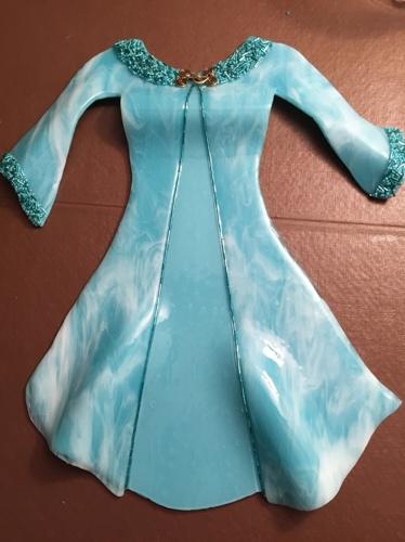 Turquoise Coat Dress