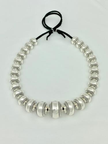 Graduated Stamped Navajo Pearls