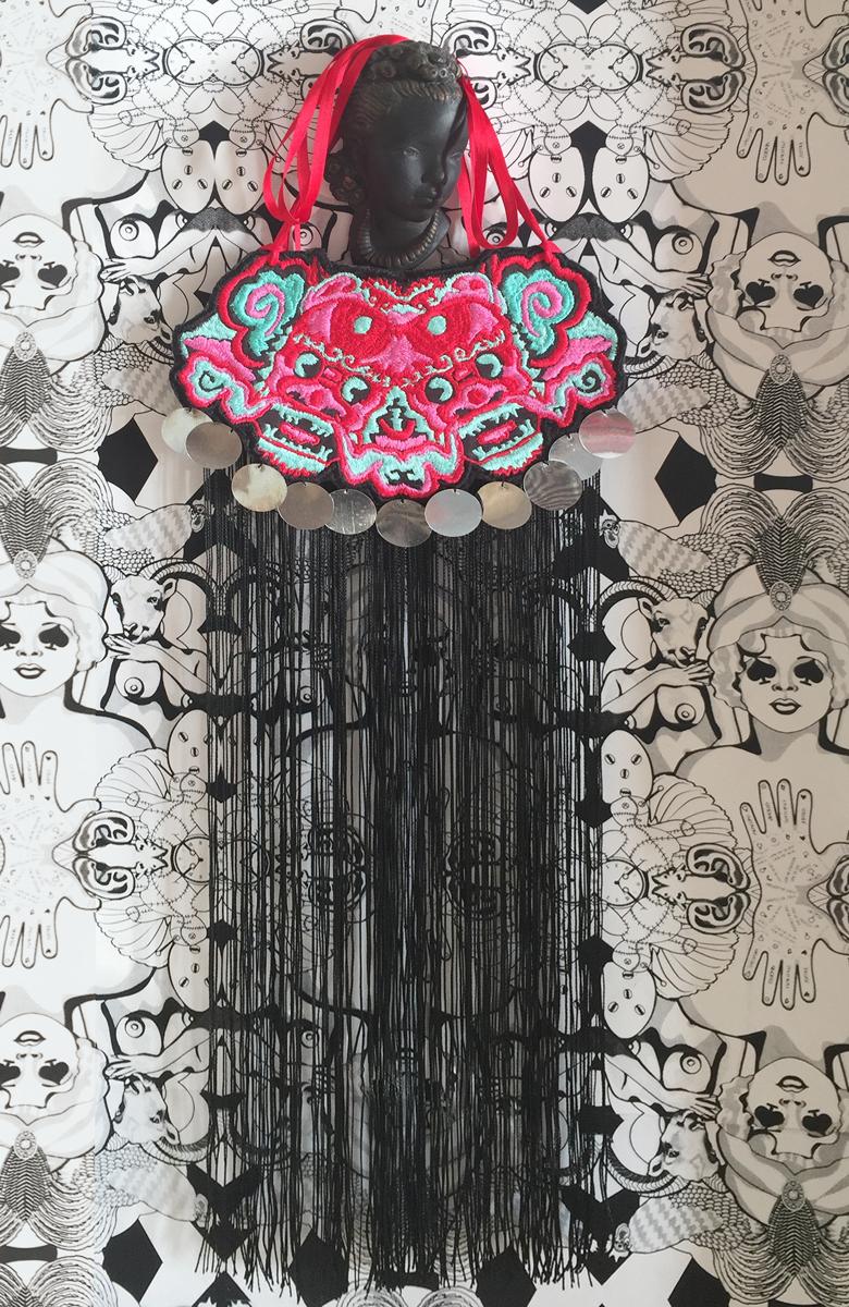 Dang Gang Embroidered Bib (large view)