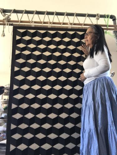 Untitled by TahNibaa Naataanii Weaving in Beauty between the Earth and Sky