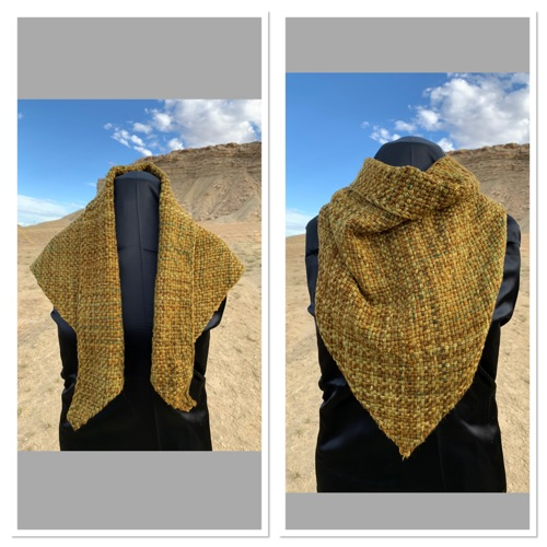 4-Tri Shawl:  Butterscotch