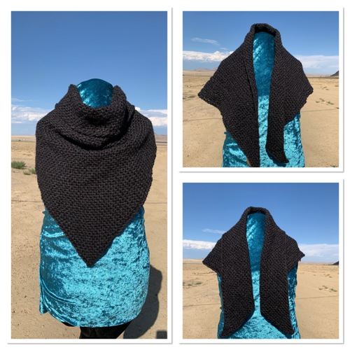 4.5 Tri Shawl:  Midnight