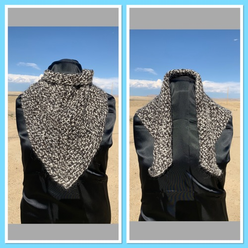 3 Tri Shawl:  Salt/Pepper