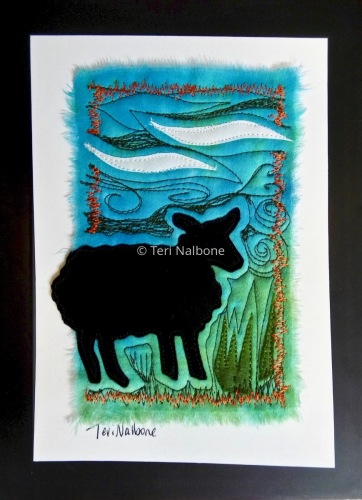 black sheep - mini by Teri Nalbone