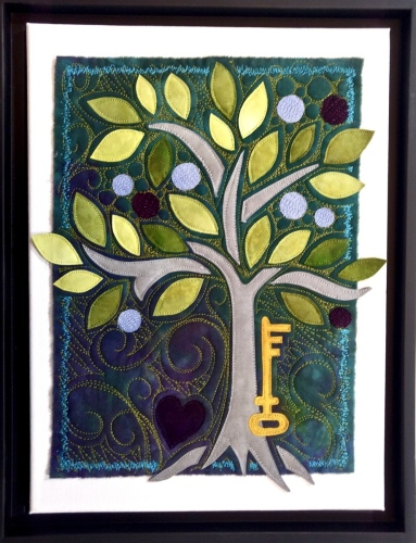Blue Tree with Key