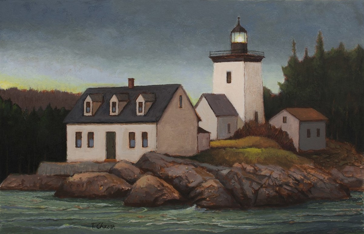 Indian Island Light House (large view)